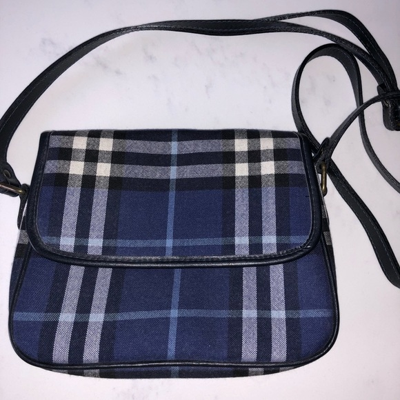 8fe34004fb97 Burberry Handbags - Burberry Blue White and Black Checkered Cross Body